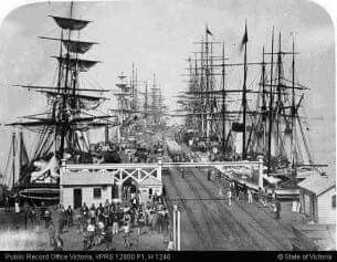 Melbourne and Hobsons Bay Railway Company Pier in 1870.