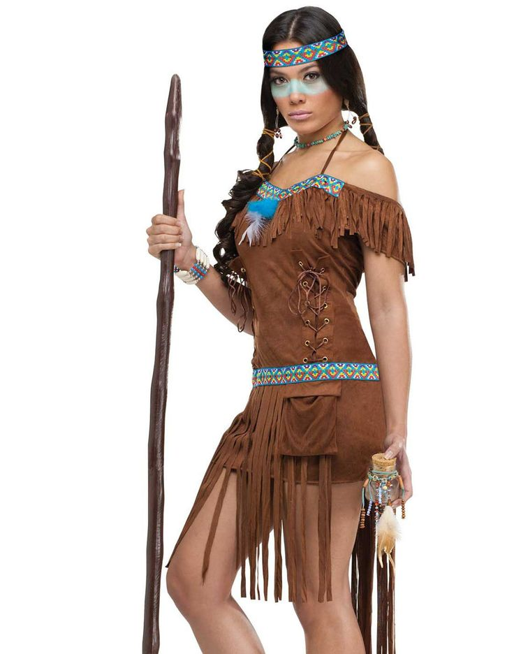 Medicine Woman Sexy Native American Indian Princess Womens Halloween Costume S-L | eBay