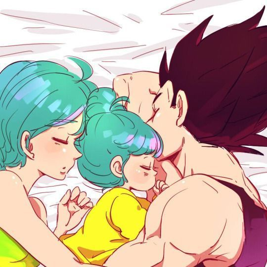 awww, even Vegeta has a soft side :) his family :) - Visit now for 3D Dragon Ball Z compression shirts now on sale! #dragonball #dbz #dragonballsuper