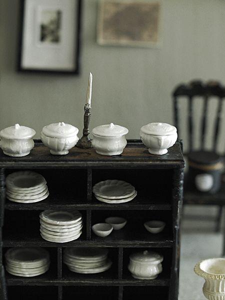 miniature* アンティーク風な食器たち (ネットショップ詳細) : natural色の生活~handmade家具
