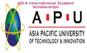 2014 International Student Scholarships at APU in Malaysia, and applications are submitted till 15th July 2014. Asia Pacific University of Technology and Innovation (APU) is offering international student scholarships for undergraduate and foundation programme. - See more at: http://www.scholarshipsbar.com/2014-international-student-scholarships.html#sthash.IpCBkr6R.dpuf