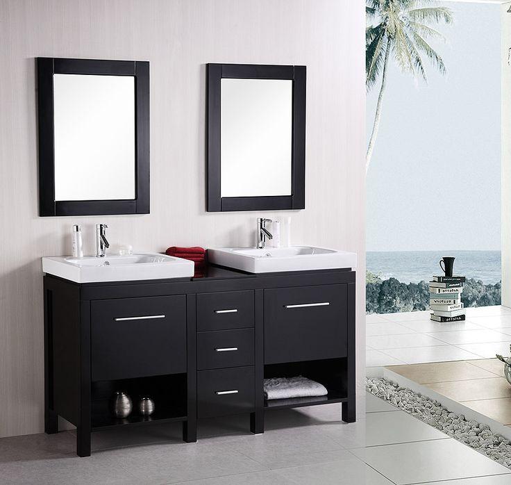 new york 60 inch modern bathroom vanity dec091b by design element