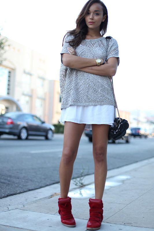 Beckett Isabel Marant Sneaker Suede Red