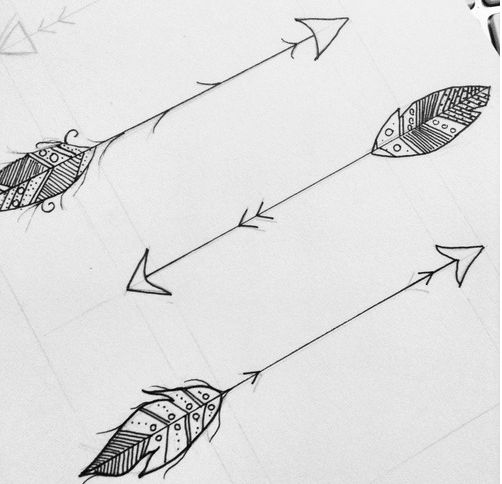 Arrows with a twist of feathers