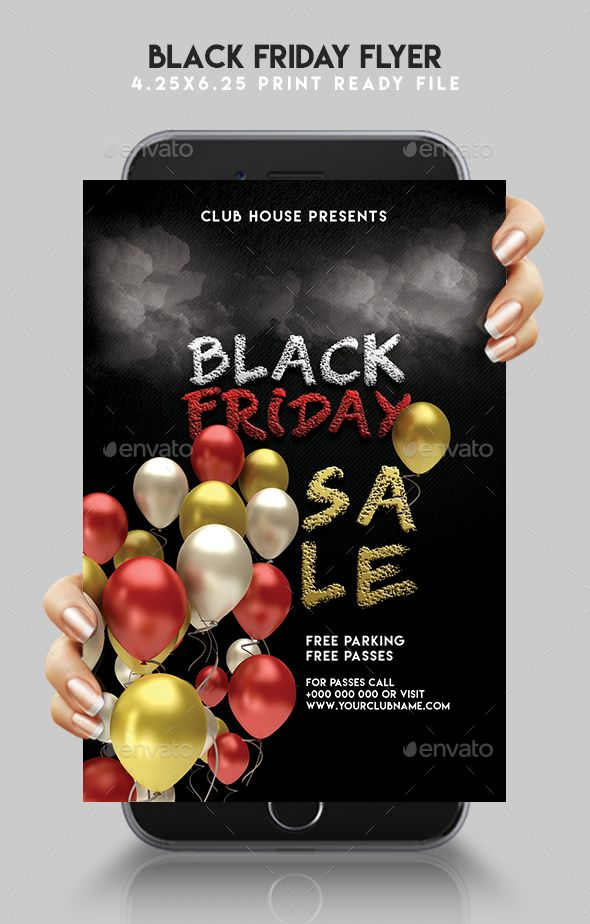 Black Friday Sale #Flyer - #Events Flyers Download here: https://graphicriver.net/item/black-friday-sale-flyer/19468076?ref=alena994