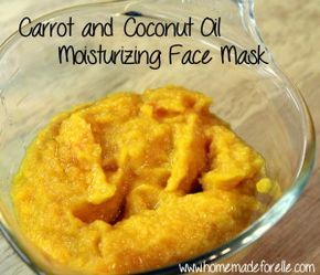 DIY Carrot and Coconut Oil Moisturizing Face Mask for dry skin