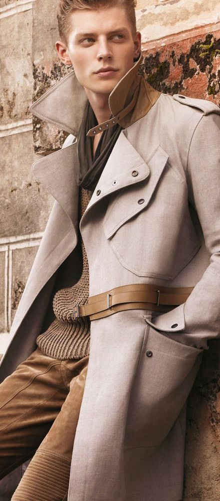 If I were to wear a trench, this would be the one.  Belstaff Spring/Summer 2013 suede and fabric