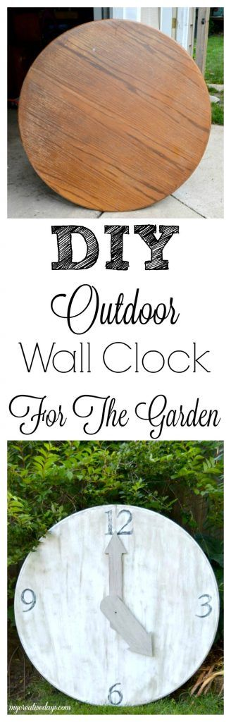 Are you looking for an outdoor wall clock? This DIY outdoor wall clock is made from a repurposed table top and is the perfect addition to your outdoor space or garden.