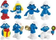 Smurfs. 80s vintage toys.