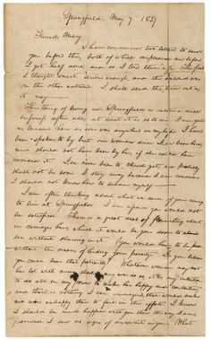 Lincoln's awkward breakup letter. From The Vault.