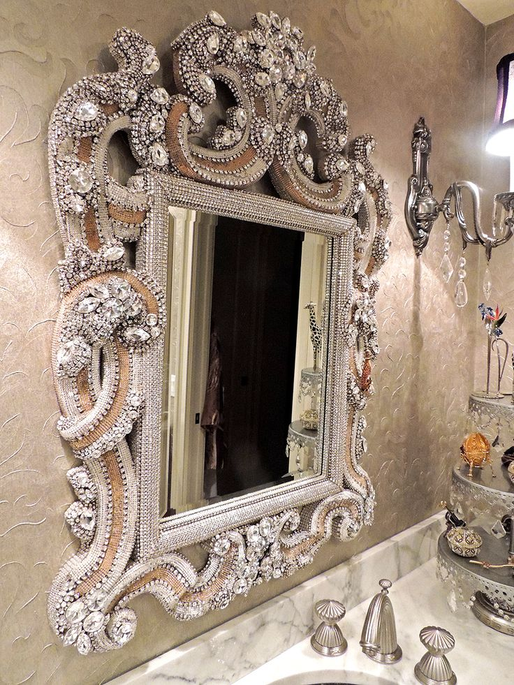 Awesome Swarovski And Vintage Jewellery Mirror By Douglas Cloutier