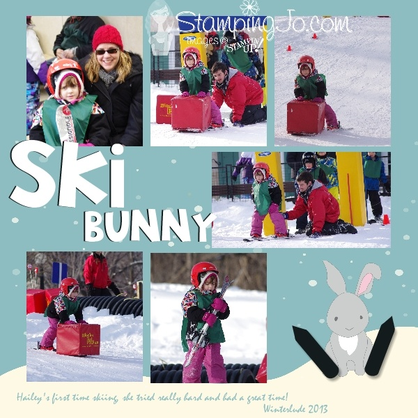 My little Ski Bunny....created with Stampin' Up! My Digital Studio