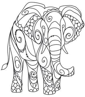Craft a celebration of the earth's rare and beautiful creatures! This elephant is an ethereal yet majestic treasure on fierce fashions and decor. Downloads as a PDF. Use pattern transfer paper to trace design for hand-stitching.