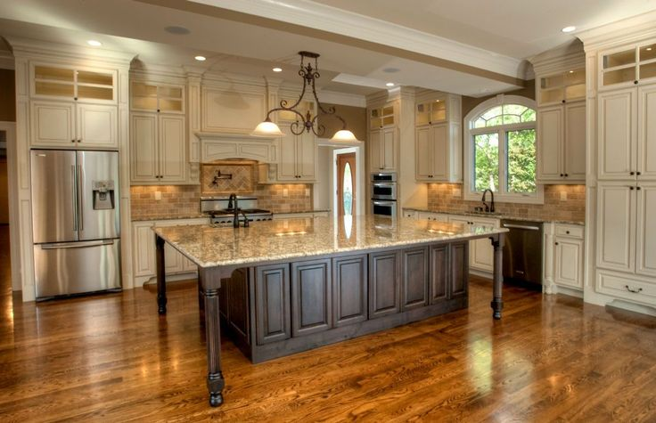 17 best ideas about large kitchens with islands on for Elegant kitchen ideas