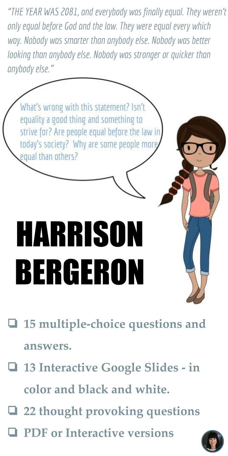 harrison bergeron is a shitty story Welcome to the litcharts study guide on kurt vonnegut's harrison bergeron created by the original team behind sparknotes, litcharts are the world's best literature guides given the time of vonnegut's writing, the dystopian tone of harrison bergeron reflects the growing fears of totalitarianism.