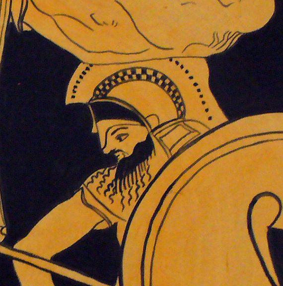 Piatto ornamentale. Mitologia greca. Dipinto a di MITOliberty