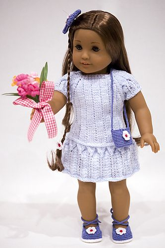 Ravelry: cataddict's spring is at the door - free knit dress pattern for american girl doll