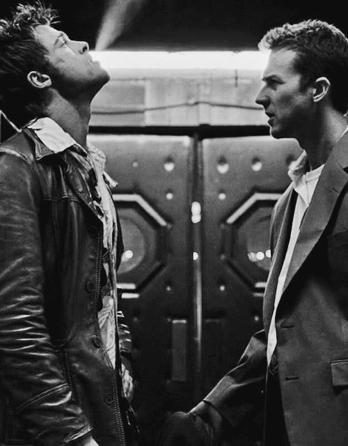 "Brad Pitt and Edward Norton – ""Fight Club"", 1999."