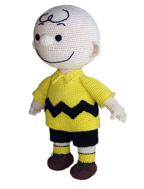 Crochet Pattern - Charlie Brown Virkmönster - Karl i Snobben  Crochet pattern in English and Swedish  För svensk info, se längre ner. My