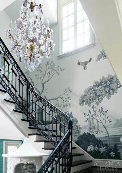 Best 25+ Wallpaper stairs ideas on Pinterest   Bohemian wallpaper, Textured wallpaper ideas and ...