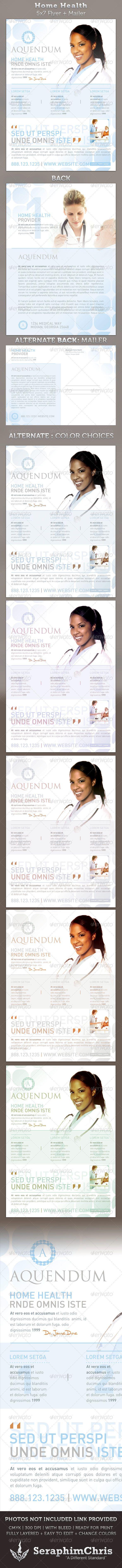 Home Health 5x7 Medical Healthcare Flyer & Mailer