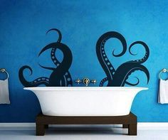 Octopus tub. I'm crazy about this. It's be great for a pirate or twenty thousand leagues under the sea themed room.