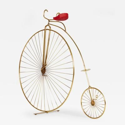 Curtis Jere Bicycle Table Top or Wall Sculpture by Curtis  Jere