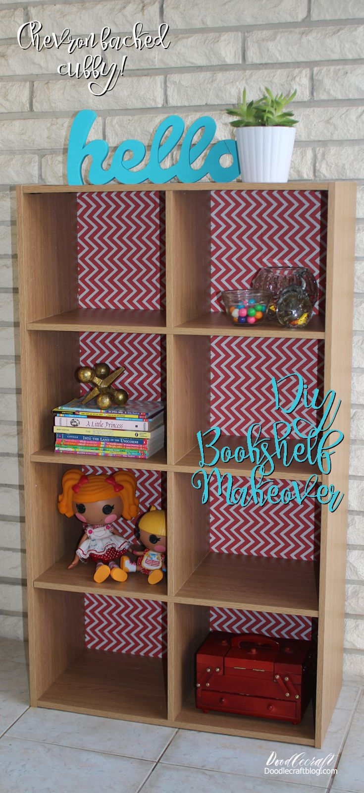DIY Furniture Bookcase Makeover!  You've seen these cubby shelves everywhere, right!?  They are adorable and great for storage.