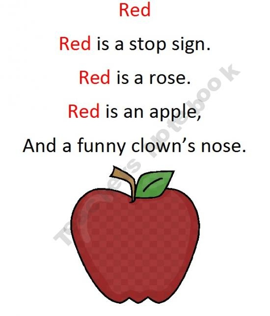 Apple Red Nursery Rhyme: 17 Best Images About Poems On Pinterest