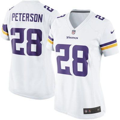 Nike Adrian Peterson Minnesota Vikings Women's New 2013 Game Jersey - White