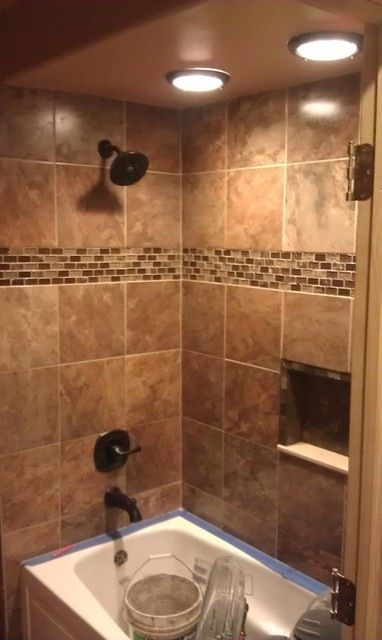 Nice I Like The Lighting Shower Tile Designs Modern