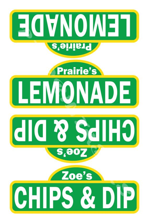 Sesame Street Inspired Food Tent Signs Customized by PJsPrintables, $3.00