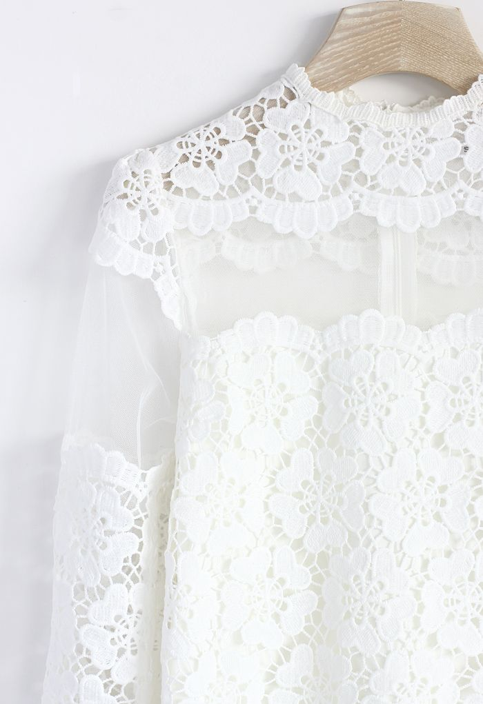 White Top - lace shirt