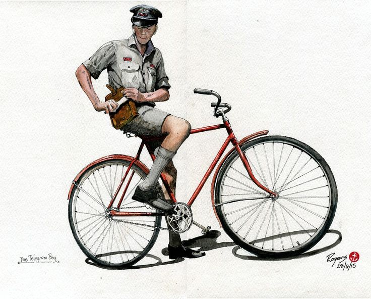 Today's project was recreating the freshness of a newly employed PMG Telegram Boy completed in Pen and Watercolour. 420 x 300mm.