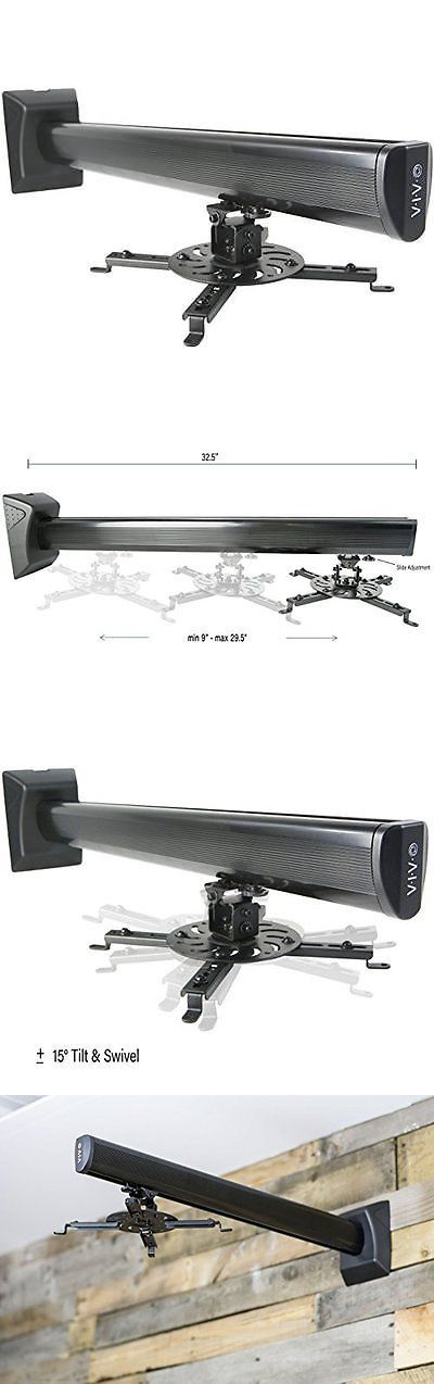 projector mounts and stands vivo universal adjustable projector wall mount extendable length projection new buy - Projector Wall Mount