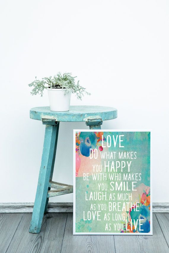 Do what makes you Happy Home Decor Typography Poster Print Wall Art Decor Interior Indoor Inspirational Australian Made Artwork