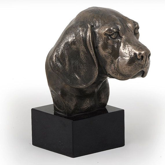 Beagle dog marble statue limited edition by ArtDogshopcenter