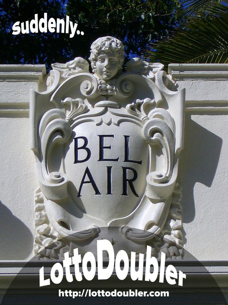 Suddenly.. | Bel Air http://lottodoubler.com/suddenly   #suddenly #belair #LA #lottery #lotto #lottodoubler