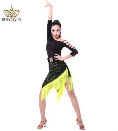 Latin Dance Dress Women Sexy Ballroom Tango Dance Skirt Girls tanzrock latein salsa vestiti da ballo robe de danse latine femme