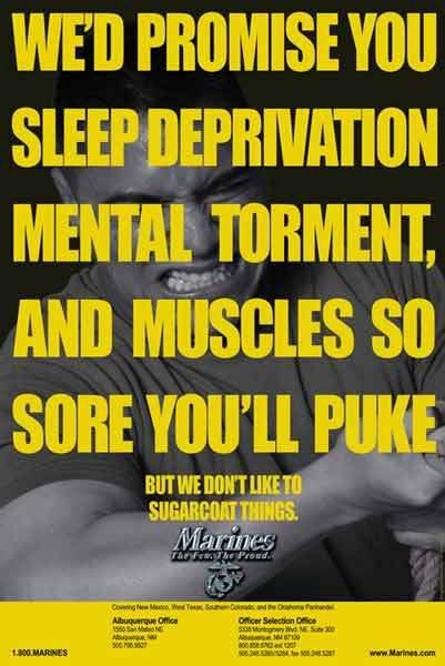 One of my favorite Marine Corps recruiting posters ...