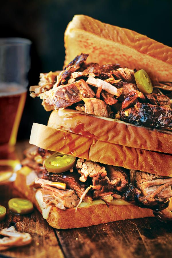 Start this recipe with our True Smoked Beef Brisket.Recipe: Cowboy Brisket Sanwich