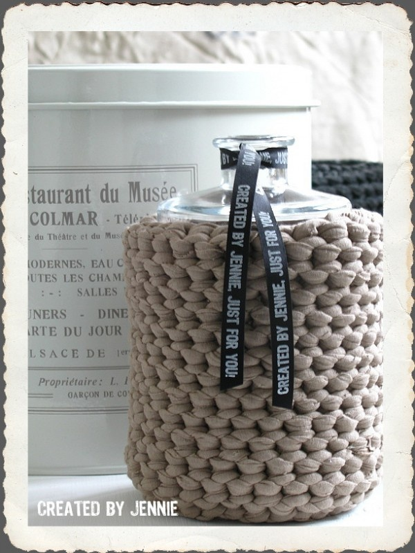 Vase - ¤ this you can crochet/knit yourself and then purchase the ribbon ¤