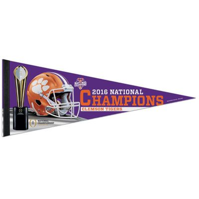 "Clemson Tigers WinCraft College Football Playoff 2016 National Champions 12"" x 30"" Premium Quality Pennant"