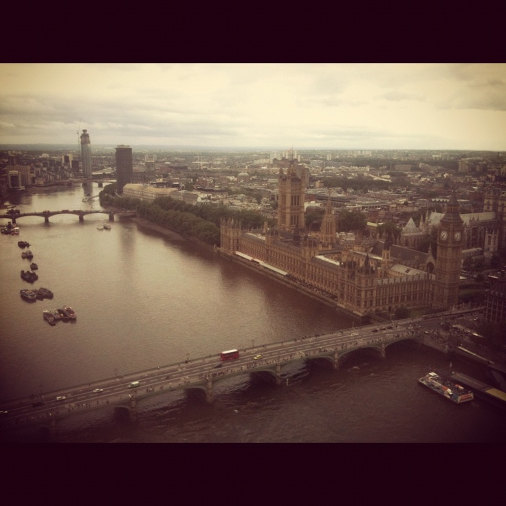 View from the London Eye, Buckingham palace