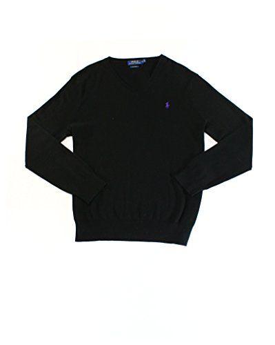 11f054ed783ac6 Polo Ralph Lauren Mens Pima Cotton V Neck Sweater Large Polo Black #shirts # sweater #top #mens #clothing #fashion