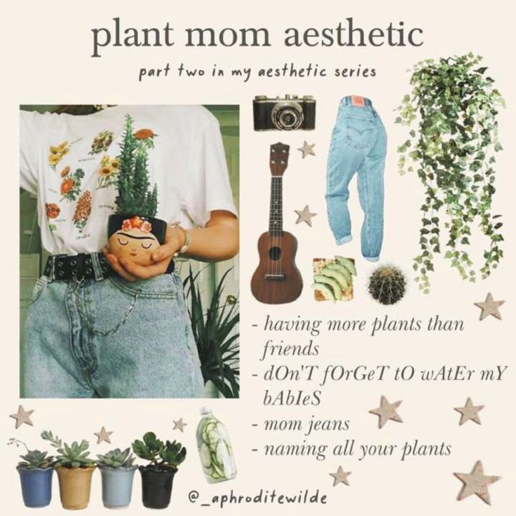 Download Plant mum in 2020 | Plant aesthetic, Indie outfits, Mom art