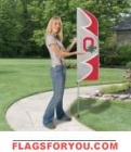 "Ohio State University Swooper Flag Kit 42"" x 13"""