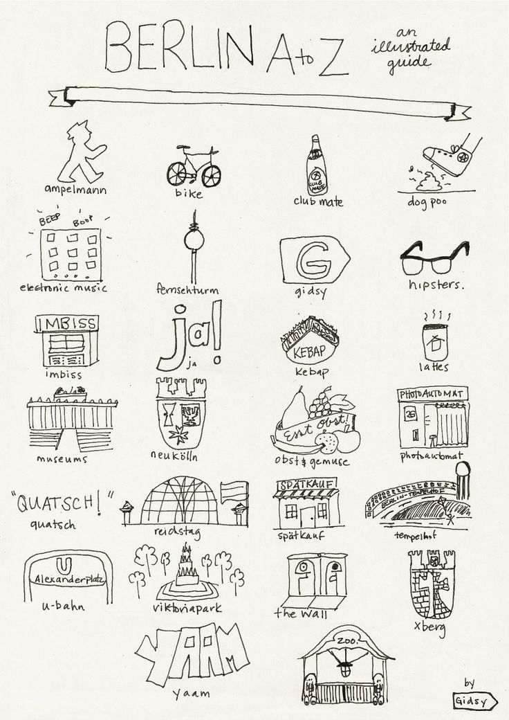Katie Needs. Berlin from A-Z, an illustrated guide