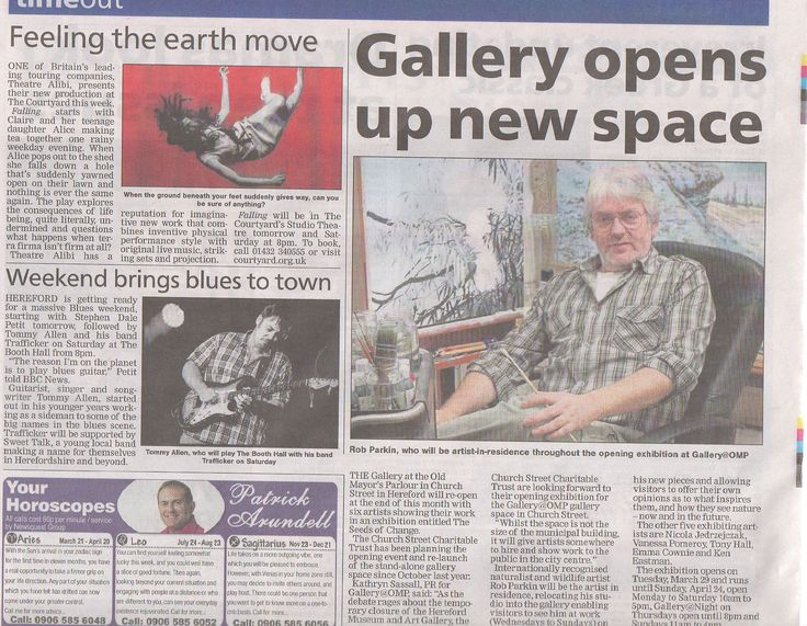 Opening Exhibition for Gallery@OMP  - Seeds of Change in #HerefordTimes