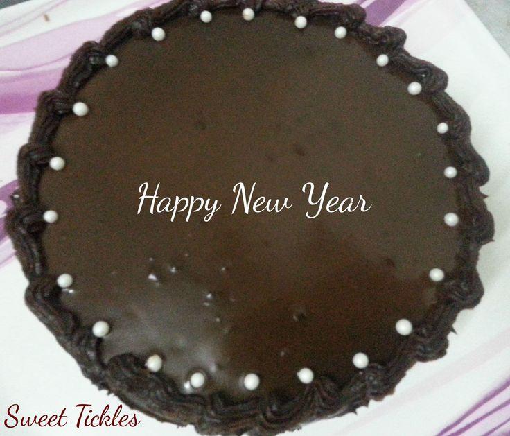 Chocolate truffle cake.